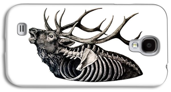 Photorealistic Galaxy S4 Cases - Horns Above Bones Within Galaxy S4 Case by Alexander M Petersen