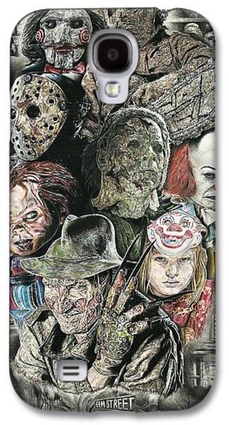 Horror Movie Murderers Galaxy S4 Case by Daniel  Ayala
