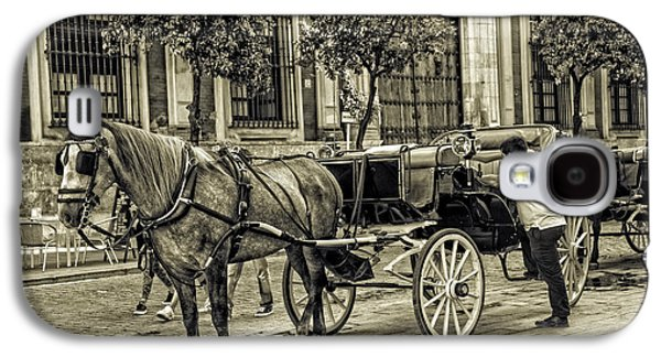Horse And Buggy Galaxy S4 Cases - Horse and Buggy in Sevilla - Spain Galaxy S4 Case by Madeline Ellis