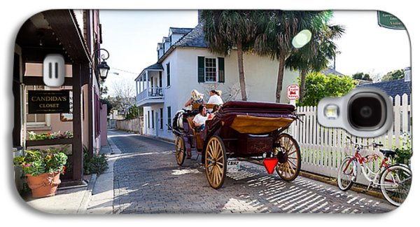 Horse And Buggy Galaxy S4 Cases - Horse and Buggy Ride St Augustine Galaxy S4 Case by Michelle Wiarda