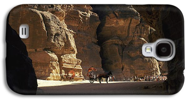 Petra Galaxy S4 Cases - Horse And Cart In The Siq, Wadi Musa Galaxy S4 Case by Panoramic Images