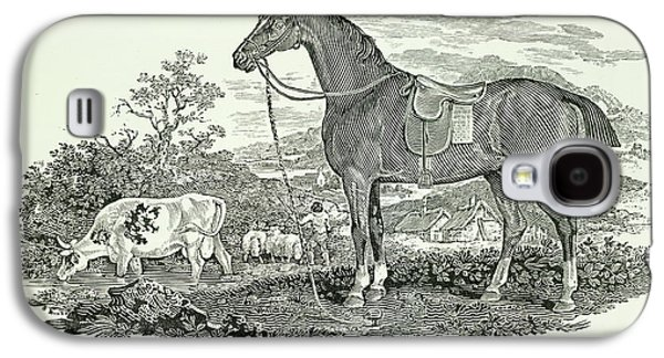 Horse And Cow Galaxy S4 Case by British Library