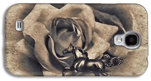 Horse And Rose Galaxy S4 Case by Jeff  Gettis