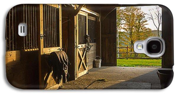 Horse Barn Sunset Galaxy S4 Case by Edward Fielding