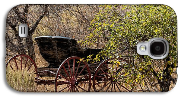 Horse And Cart Digital Art Galaxy S4 Cases - Horse-drawn Buggy Galaxy S4 Case by Kathleen Bishop
