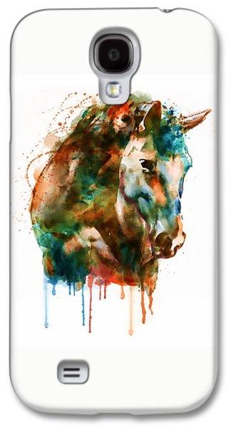 Horse Head Watercolor Galaxy S4 Case by Marian Voicu