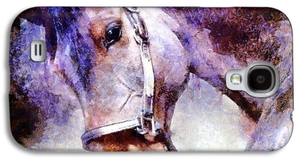 Brave Mixed Media Galaxy S4 Cases - Horse I will follow you Galaxy S4 Case by Janine Riley