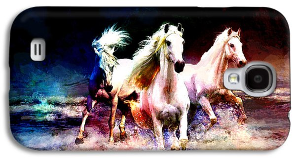 Display Galaxy S4 Cases - Horse paintings 002 Galaxy S4 Case by Catf