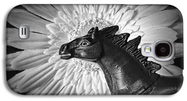 Eye-catching Galaxy S4 Cases - Horse Startled By A Daisy Galaxy S4 Case by Jeff  Gettis