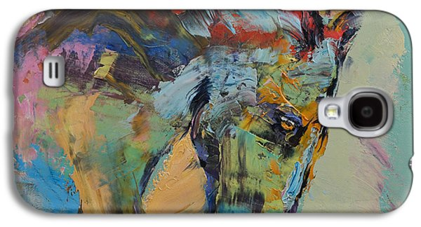 Nature Study Paintings Galaxy S4 Cases - Horse Study Galaxy S4 Case by Michael Creese