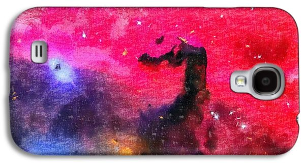 Constellations Paintings Galaxy S4 Cases - Horsehead Nebula Galaxy S4 Case by Dan Sproul