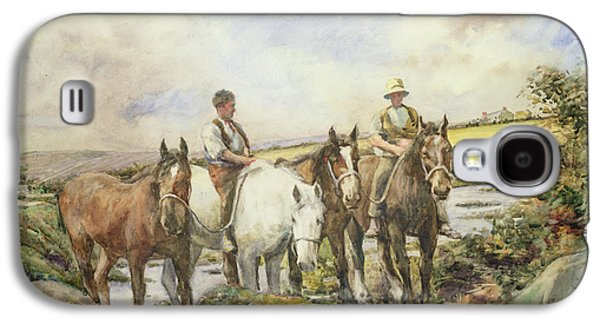 Horses Watering Galaxy S4 Case by Henry Meynell Rheam
