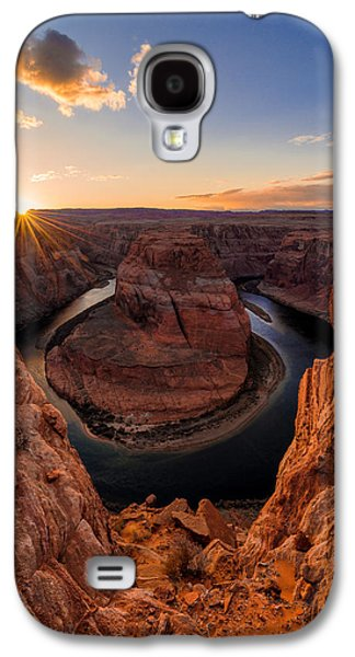 Sun Rays Galaxy S4 Cases - Horseshoe Bend Galaxy S4 Case by Chad Dutson