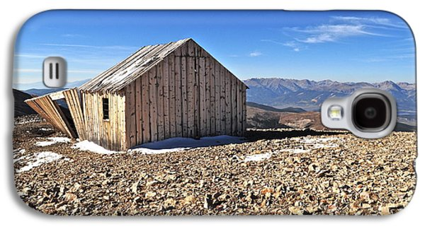 Old Western Photos Galaxy S4 Cases - Horseshoe Mountain Mining Shack Galaxy S4 Case by Aaron Spong