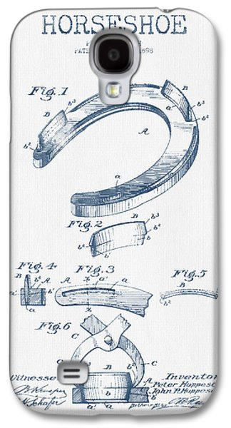 Horseshoe Patent Drawing From 1898- Blue Ink Galaxy S4 Case by Aged Pixel