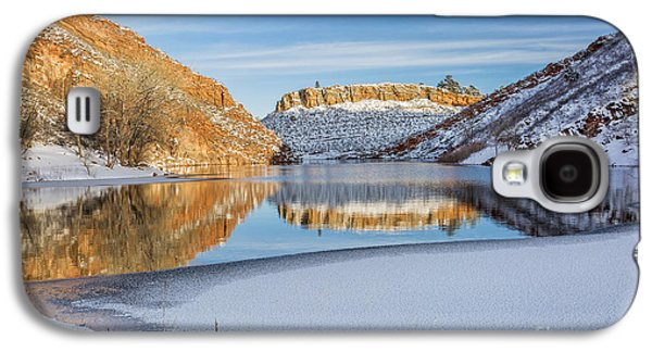 Horsetooth Galaxy S4 Cases - Horsetooth Reservoir in winter scenery Galaxy S4 Case by Marek Uliasz