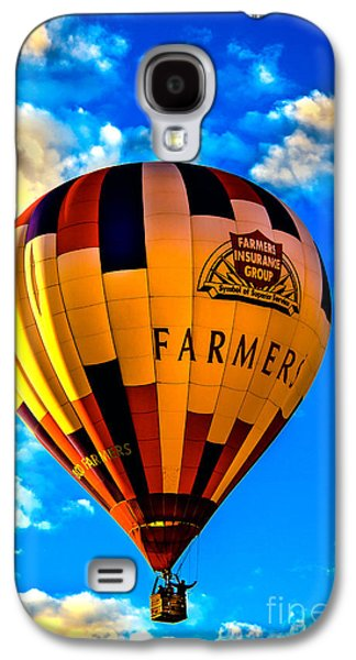 Recently Sold -  - Haybale Galaxy S4 Cases - Hot Air Ballon Farmers Insurance Galaxy S4 Case by Robert Bales