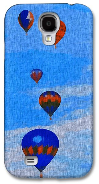 Free Mixed Media Galaxy S4 Cases - Hot Air Balloons Pop Art Galaxy S4 Case by Dan Sproul