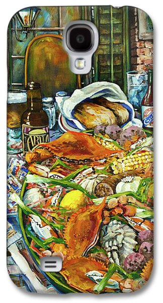 Dine Galaxy S4 Cases - Hot Boiled Crabs Galaxy S4 Case by Dianne Parks