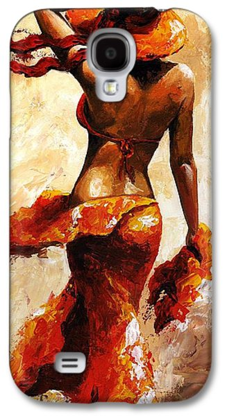 Sun Galaxy S4 Cases - Hot breeze  Galaxy S4 Case by Emerico Imre Toth