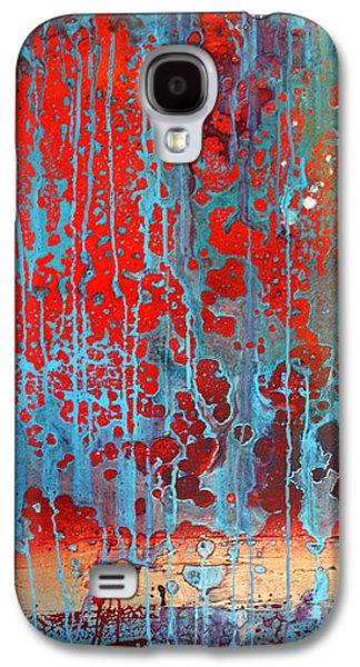 Splashy Mixed Media Galaxy S4 Cases - Hot Day Rain Galaxy S4 Case by Adam Oriti