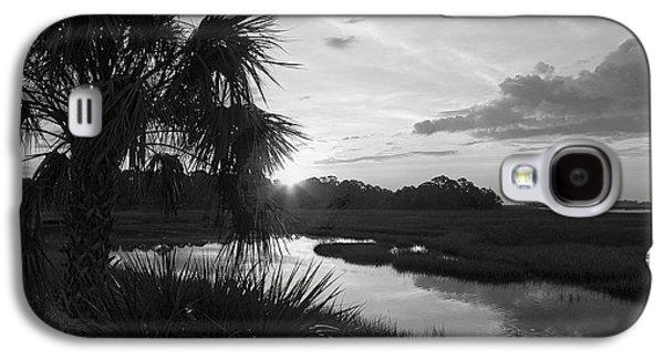 Cedar Key Galaxy S4 Cases - Hot June Sunrise I        BW Galaxy S4 Case by Sheri McLeroy