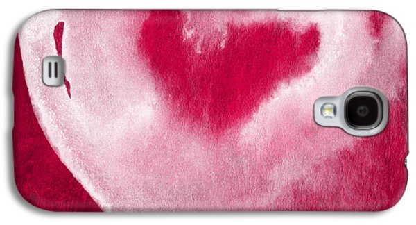Mother Gift Galaxy S4 Cases - Hot Pink Heart Galaxy S4 Case by Linda Woods