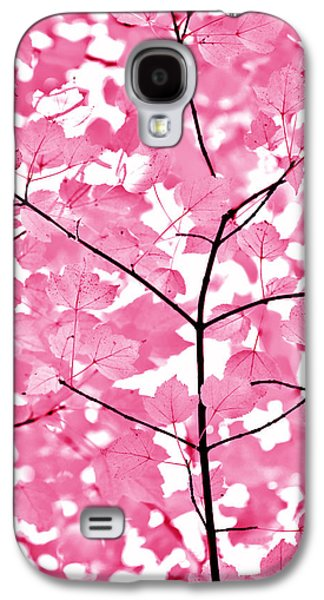 Fushia Galaxy S4 Cases - Hot Pink Leaves Melody Galaxy S4 Case by Jennie Marie Schell