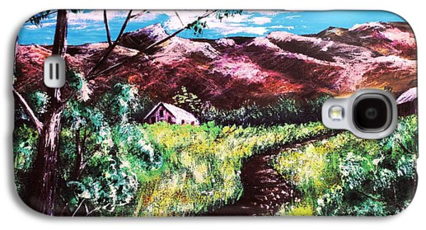 Field Digital Art Galaxy S4 Cases - Hot Summer Day Galaxy S4 Case by Anastasiya Malakhova