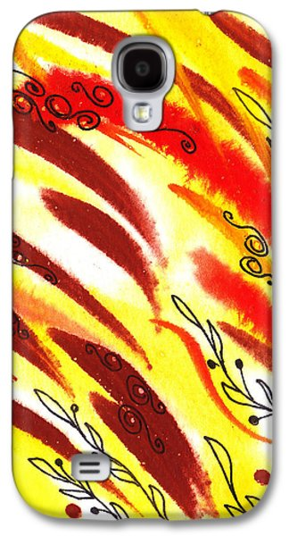 Abstract Movement Galaxy S4 Cases - Hot Wind Abstract Galaxy S4 Case by Irina Sztukowski