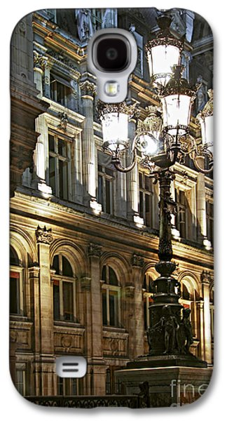 Landmarks Photographs Galaxy S4 Cases - Hotel de Ville in Paris Galaxy S4 Case by Elena Elisseeva