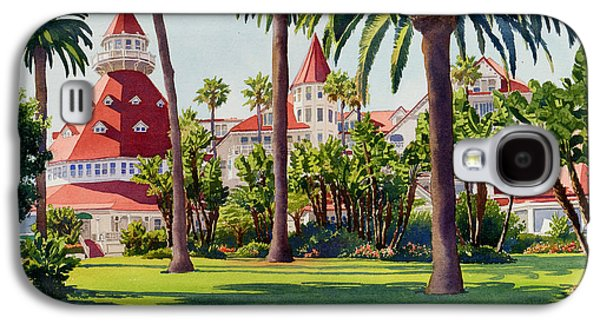 Diego Galaxy S4 Cases - Hotel Del Coronado Galaxy S4 Case by Mary Helmreich