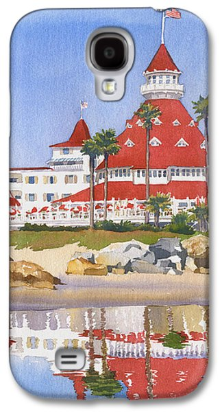 Diego Galaxy S4 Cases - Hotel Del Coronado Reflected Galaxy S4 Case by Mary Helmreich