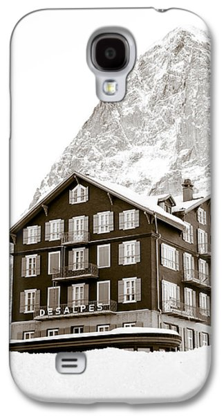 Sports Photographs Galaxy S4 Cases - Hotel Des Alpes And Eiger North Face Galaxy S4 Case by Frank Tschakert