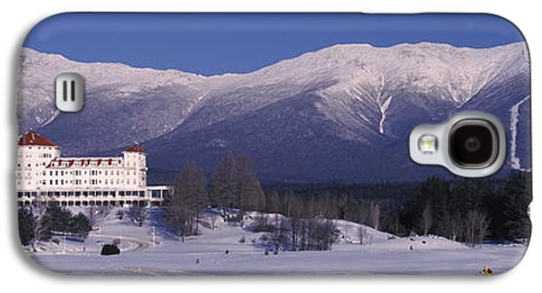 New England Snow Scene Galaxy S4 Cases - Hotel Near Snow Covered Mountains, Mt Galaxy S4 Case by Panoramic Images