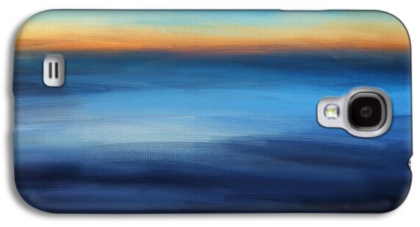 Sunset Abstract Galaxy S4 Cases - Hour Of Dreams Galaxy S4 Case by Lourry Legarde