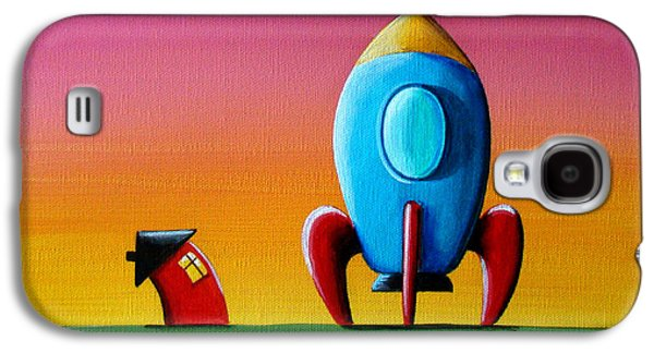 House Builds A Rocketship Galaxy S4 Case by Cindy Thornton