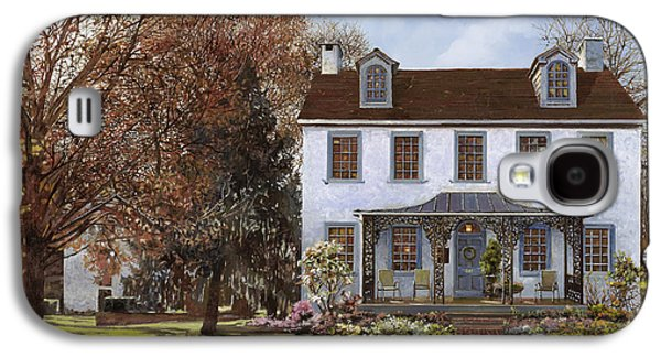 Usa Paintings Galaxy S4 Cases - house Du Portail  Galaxy S4 Case by Guido Borelli