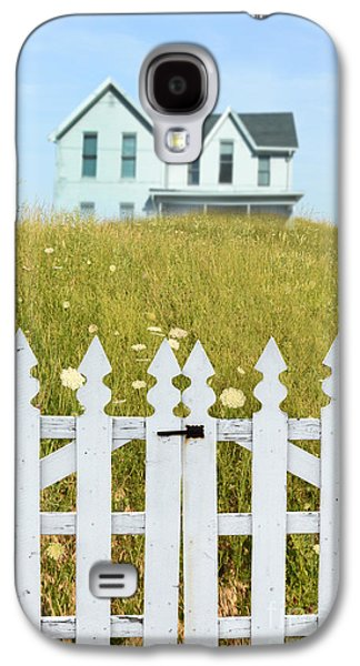 Home Improvement Galaxy S4 Cases - House in a Field Behind a Picket Gate Galaxy S4 Case by Jill Battaglia