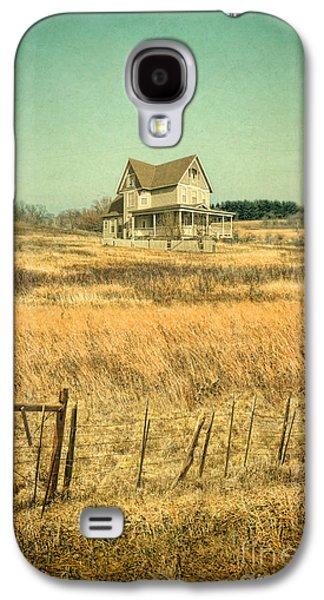 Home Improvement Galaxy S4 Cases - House in a Field Galaxy S4 Case by Jill Battaglia