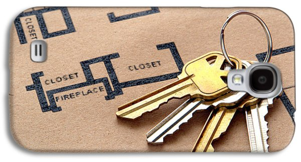 Construction Galaxy S4 Cases - House Keys on Real Estate Housing Floor Plans Galaxy S4 Case by Olivier Le Queinec