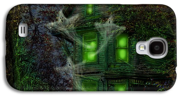 Haunted House Digital Galaxy S4 Cases - House on Haunted Hill Galaxy S4 Case by Doug Kreuger
