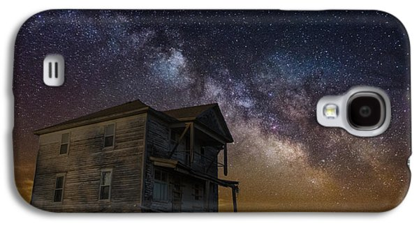 Abandoned House Photographs Galaxy S4 Cases - House on the Hill   remastered Galaxy S4 Case by Aaron J Groen