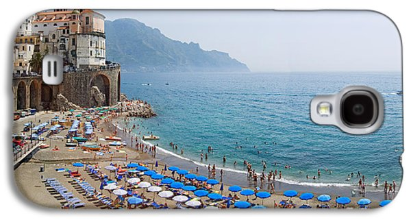 Person Galaxy S4 Cases - Houses On The Sea Coast, Amalfi Coast Galaxy S4 Case by Panoramic Images
