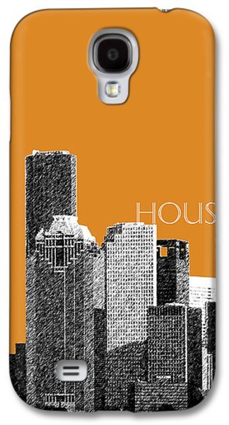 Pencil Digital Galaxy S4 Cases - Houston Skyline - Dark Orange Galaxy S4 Case by DB Artist