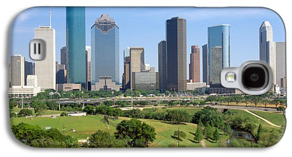 Landscapes Photographs Galaxy S4 Cases - Houston Skyline, Memorial Park, Texas Galaxy S4 Case by Panoramic Images