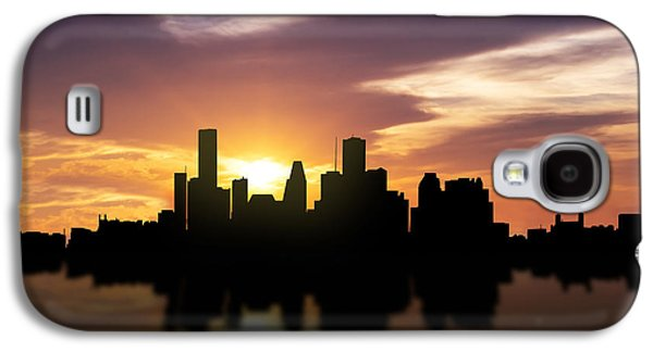 Recently Sold -  - Light Galaxy S4 Cases - Houston Sunset Skyline  Galaxy S4 Case by Aged Pixel