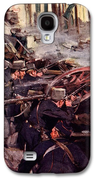 Wwi Paintings Galaxy S4 Cases - How the Brave Belgians Held up the German Advance Galaxy S4 Case by Cyrus Cuneo
