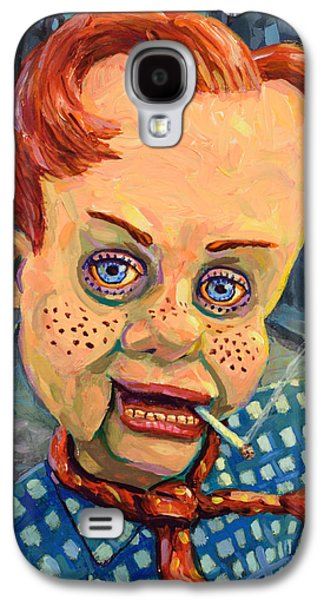 Expressionism Galaxy S4 Cases - Howdy Von doody Galaxy S4 Case by James W Johnson