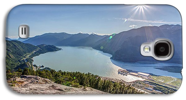 Kite Surfing Galaxy S4 Cases - Howe Sound from the Summit of the Stawamus Chief Galaxy S4 Case by Pierre Leclerc Photography